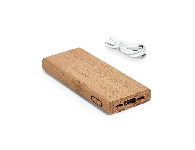 Power Bank de Bambu 5.000mAh SP97915 (MB17592)
