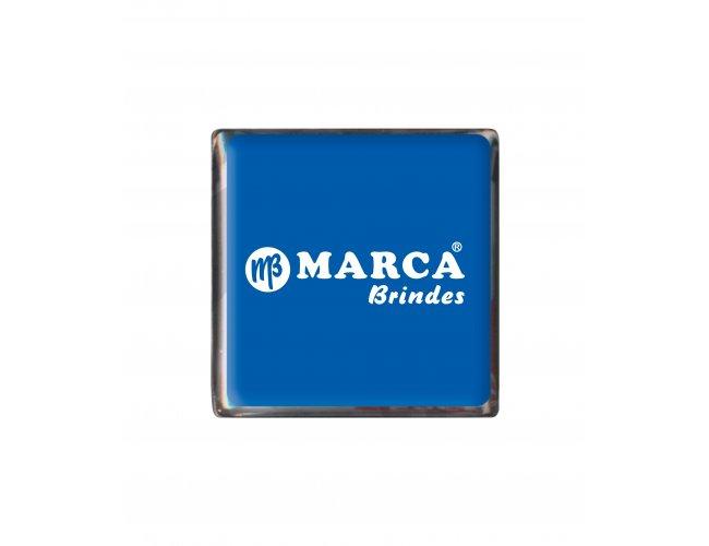 Bóton Quadrado Níquel 15x15mm B46 (MB1060.0319)