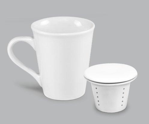 Caneca de Porcelana Infusora para Chá BV352