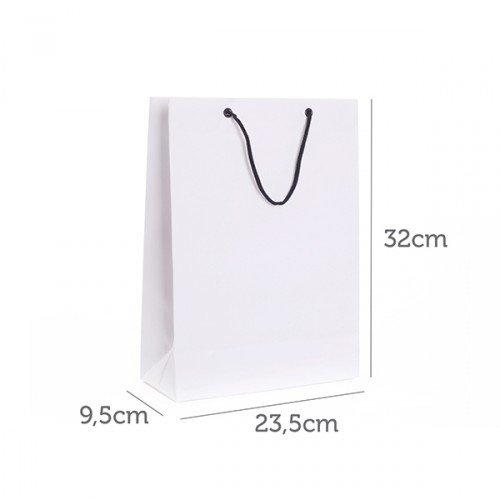 Sacola de Papel Branco 23,5x32x9,5cm CY-SB13 (MB1241.1220)