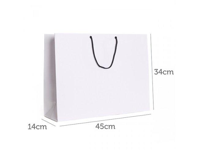 Sacola de Papel Branco 34x45x14cm CY2017B