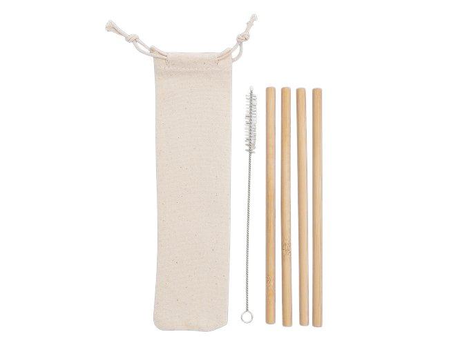 Kit Canudos de Bambu com Escova de Limpeza XB14597 (MB1700.0921)