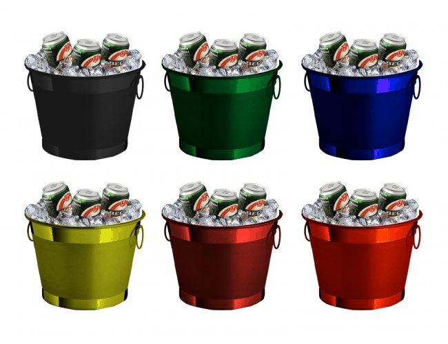 Balde de Gelo Metal Color GG 11,5L LMBG141 (MB12578.0219)