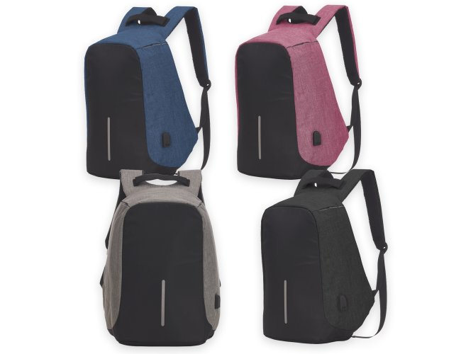 Mochila Anti-Furto USB XB14290