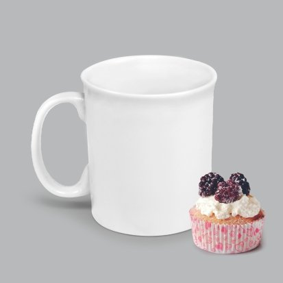Caneca de Porcelana 350ml BV02 (MB1883.0121)