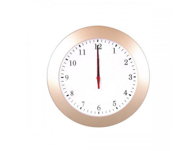 Relógio de Parede Saturno Acetinado Dourado (11690)